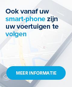 Ook vanaf uw smart-phone zijn uw voertuigen te volgen